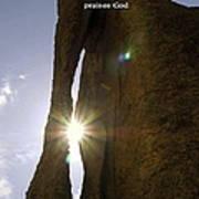 Sunburst Through Spire Poster