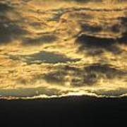 Sunday Autumn Sunset Three Poster