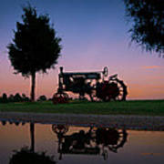Sundown On Farmall At Chippokes Poster