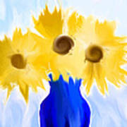 Sunflower Fantasy Still Life Poster