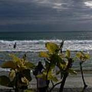 Sunlight On Kovalam Beach Poster