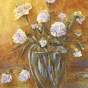 Sunny Carnations In A Vase Poster