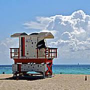 Sunny Day Miami Beach Poster