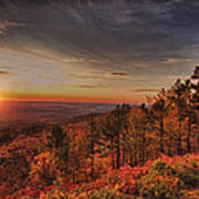 Sunrise 2-talimena Scenic Drive Arkansas Poster by Douglas Barnard