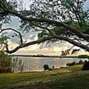 Sunrise Across The Lagoon Poster