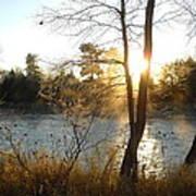 Sunrise Across The Mississippi Poster