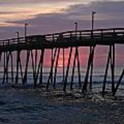 Sunrise At Avalon Pier Poster