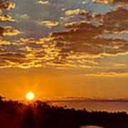 Sunrise Bayou Poster