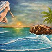 Sunrise Goddess Poster