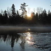 Sunrise On Ice Poster