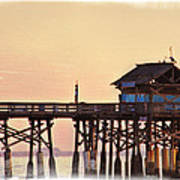 Sunrise On Rickety Pier Poster