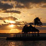 Sunrise Over Bay Poster