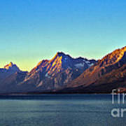 Sunrise Over Jackson Lake Poster