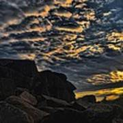 Sunrise Over Little Round Top Poster by Dave Sandt