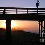 Sunrise Pier Ventura Poster by Henrik Lehnerer
