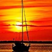 Sunrise Sailing Poster