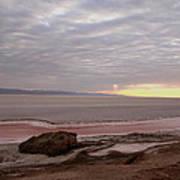 Sunrise Salt Lake - Tunisia  Poster by Simona  Mereu