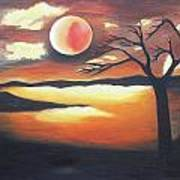 Sunset - Oil Painting Poster by Rejeena Niaz