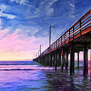 Sunset At Avila Beach Poster