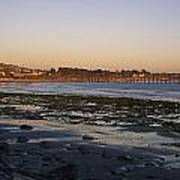 Sunset At Low Tide On Ventura Beach Poster