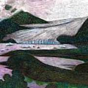 Sunset At Mendenhall Glacier Juneau  Alaska Poster