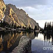 Sunset At Willow Lake Poster