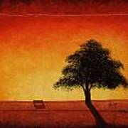 Sunset Bench Poster