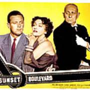 Sunset Boulevard, William Holden Poster by Everett