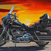 Sunset Electraglide Poster