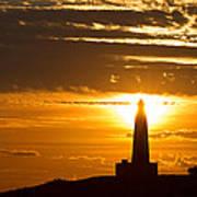 Sunset Obelisk Poster
