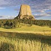 Sunset On Devils Tower Wyoming United Poster