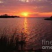 Sunset On Eagle Harbor Poster