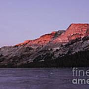 Sunset On Frozen Tenaya Lake Poster