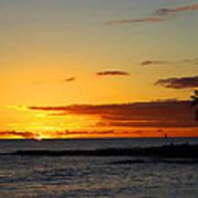 Sunset On Kauai Poster