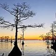Sunset On Lake Mattamuskeet Poster