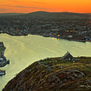 Sunset On St. John's Harbour Poster