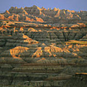 Sunset On The Geological Formations Poster