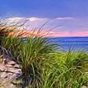 Sunset On Wellfleet Dunes Poster