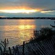 Sunset Over Cedar Creek Poster
