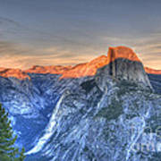 Sunset Over Half Dome Poster