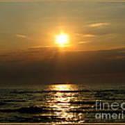 Sunset Over Lake Erie 3 Poster