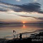 Sunset Over Lovewell Lake Poster