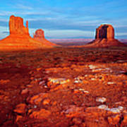 Sunset Over Monument Valley Poster