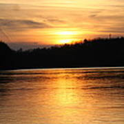 Sunset Over The Connecticut River Poster