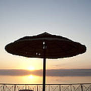 Sunset Over The Dead Sea Poster