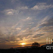 Sunset Over The San Fernando Valley Poster