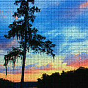 Sunset Over The Suwanee Mosaic Poster