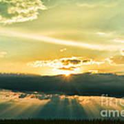 Sunset Sunbeams Poster