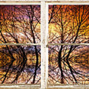 Sunset Tree Silhouette Colorful Abstract Picture Window View Poster by James BO  Insogna