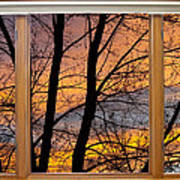 Sunset Window View Poster